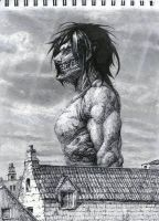 Eren Titan Form by antipatika-haxor