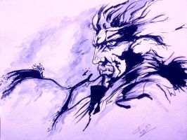 Metal Gear Solid 4 in blue by TheSniper92