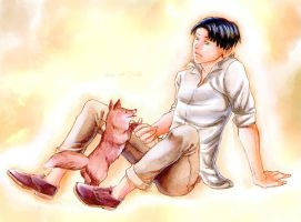 Levi and Cosette by BlackNyappy