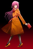 Lucy in orange coat by syomei-yoko