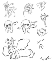 PMA and P-F doodles by s1gnalbeams