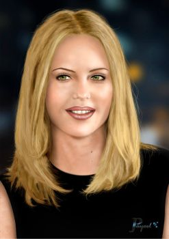Charlize Theron portrait by JPayxel