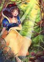 aceo snow white by MIAOWx3