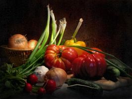 Still life with vegetables by kopalov