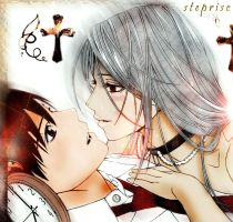 moka y tsukune by steprisc