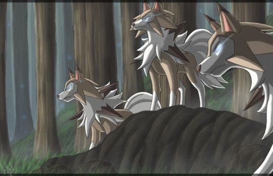 Midday Lycanroc by eclipse4d