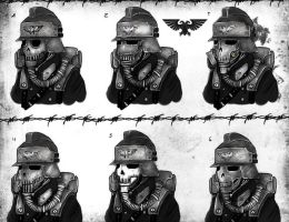 Death Korps of Krieg Gas Masks concept by Taurus-ChaosLord