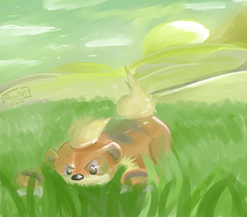 Growlithe- Playing Pup by Xetak6