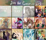 2014 Art Compilation by KrisseyMage