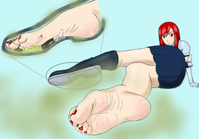 Inside Erza's Boot by BSFLove