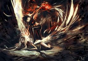 Devil v. Angel by Junedays