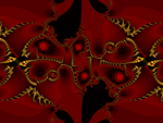 Sexy Swirls of Yellow, Enveloped by Red Silk by Space0ctopus