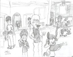 Thanksgiving Dinner 2015 by DGAnimation616