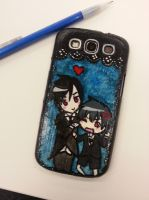 Kuroshitsuji Samsung3 Phone case by GingerBreadKitten