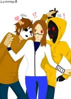 When I First Met Hoody And Masky by Cuttheshadowdemon