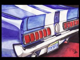 1968 Shelby GT500 Mustang by FastLaneIllustration