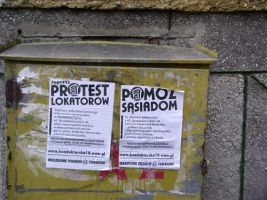 Tenants' protest posters by 13VAK