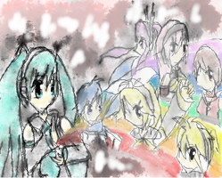 Vocaloid Color Outburst by maximumm