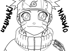 Uzumaki Naruto Lineart by bloodplusrocks