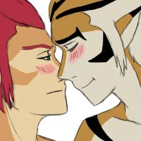 Eskimo Kiss by Leopard-Gryphon