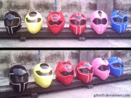 Maskman Helmets with Gekired by Gibs05