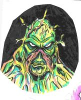 Swamp Thing Marker Doodle by JollyGorilla