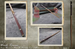 "14.5"" Rowan Wood Wand by Archer-AMS"