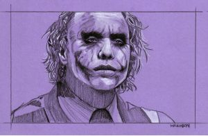 Heath Ledger Joker by sarahwilkinson