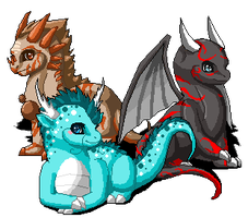 Mosstail1's Dragons by SadEyEdoLL