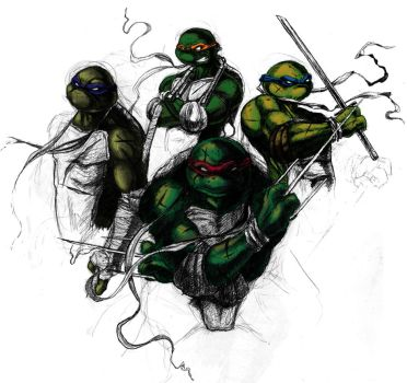 Teenage Mutant Ninja Turtles by darkmodifier
