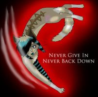 Never Give In by CrazyWhiteArabian