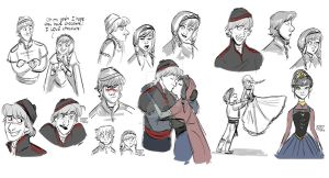 Kristoff and Anna by animegirl43