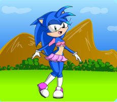 Sonic as a girl 2 by Silverluver123