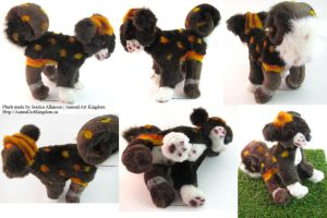 7in tall Plush Puppy Commission by AnimalArtKingdom