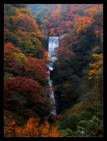 Nikko Man-made Waterfall by killachowmein