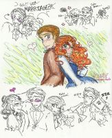 Autumn and Callan- sketches by Kiyomi-chan16