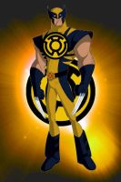 Yellow Lantern Wolverine by KalEl7