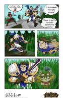 Garen in the bushes by Ikleyvey