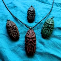 Cthulhu Idol Necklace by CthulhuJewellery