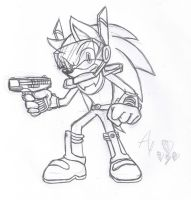 Zonic the Zone Cop - pencil by AR-ameth