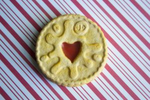polymer clay jammie dodger - doctor who by l337Jacqui