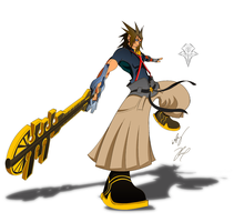 Keyblade Master Terra Color by GunZcon