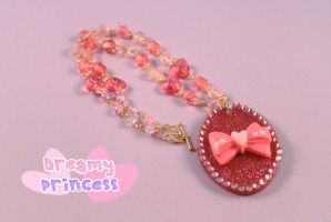 Pink Sparkle Necklace by PeppermintPuff