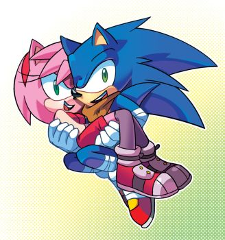 Sonic And Amy by ProBOOM