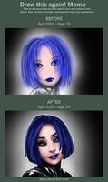 Before And After: Blue Eyed by iellos