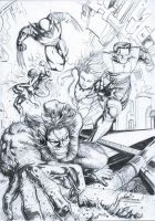 X-MEN Escape from.. where they are by HM1art