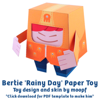 Bertie 'Rainy Day' Paper Toy by moopf