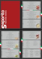 Saporito Restaurant Menu by deebeeArt