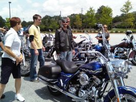 Charity ride with Bo Bice by redtailhawker