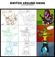Switch Around Meme, with Kujjles and Juliannb4 by McTaylis
